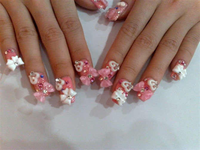 10 3D Acrylic Nail Art Designs Images