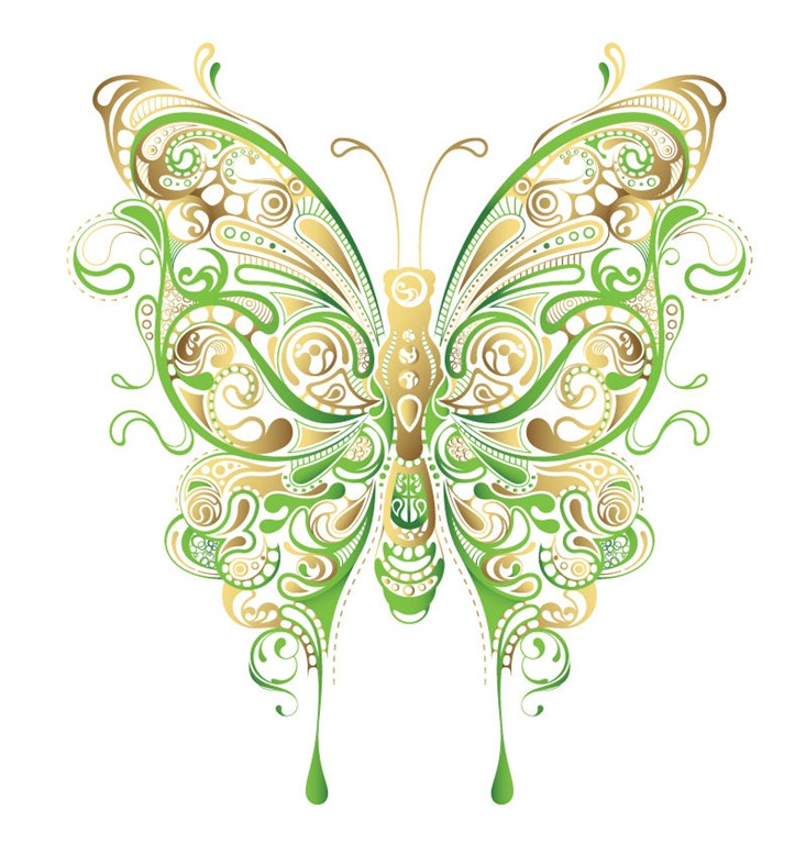 16 Abstract Butterfly Vector Graphic Images