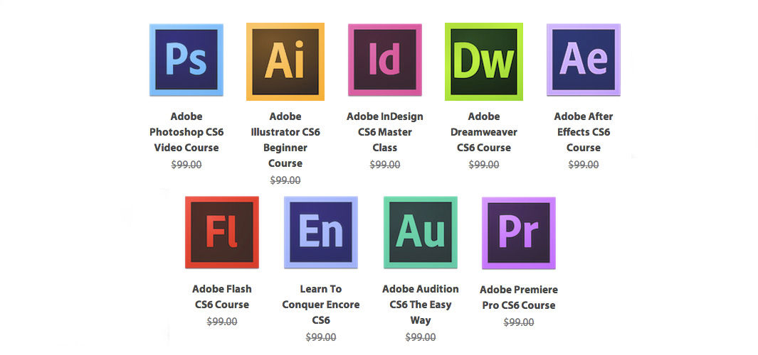 adobe icons vector