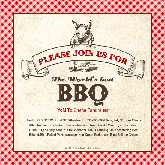 Barbeque Invitation Template  CityEsporaCo