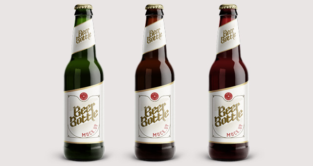 11 Beer Bottle Mockup PSD Images