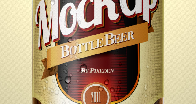 Beer Bottle PSD Template