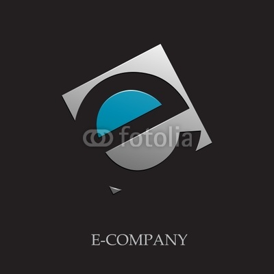 Black Background with Letter E