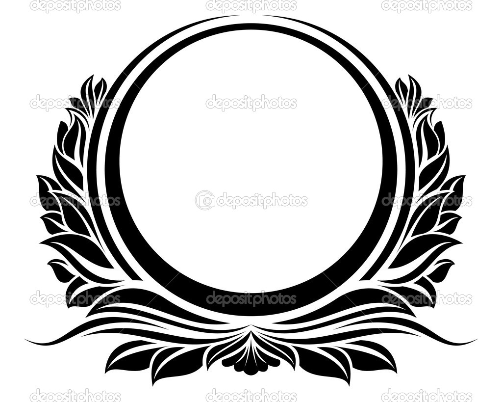 Circle Design Art : Elegant frame vector circle