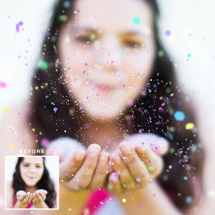 15 Confetti Overlay PSD Images - Transparent Confetti, Photoshop