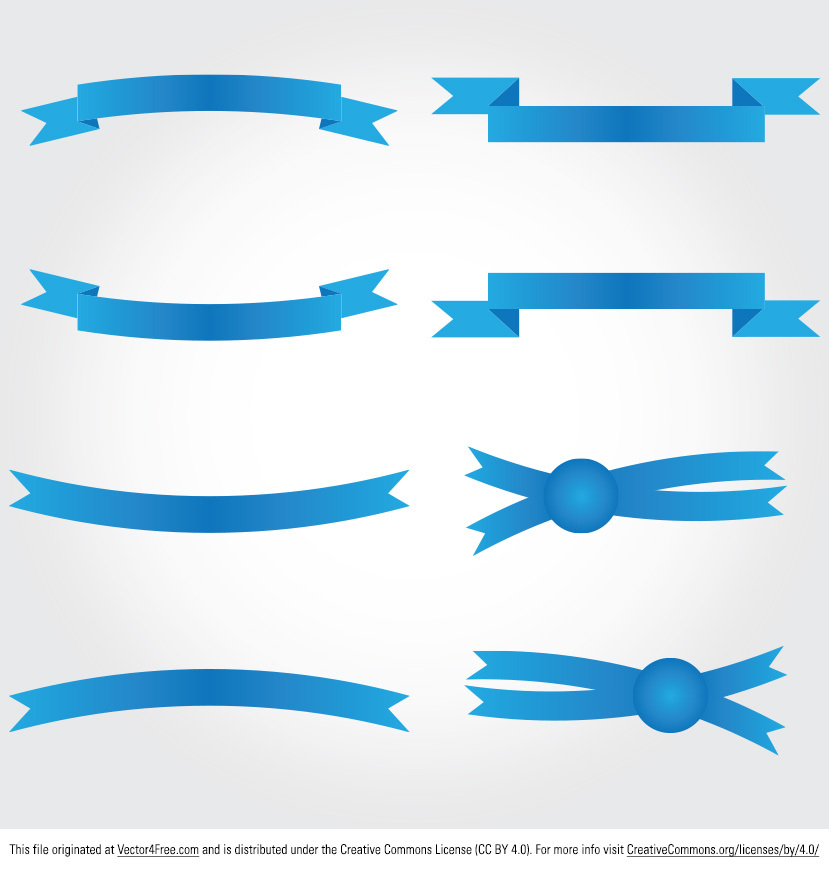 Blue Ribbon Banner Vector