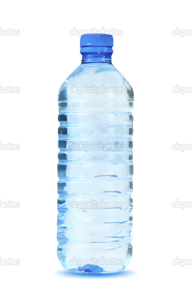Blue Water Bottle White Background