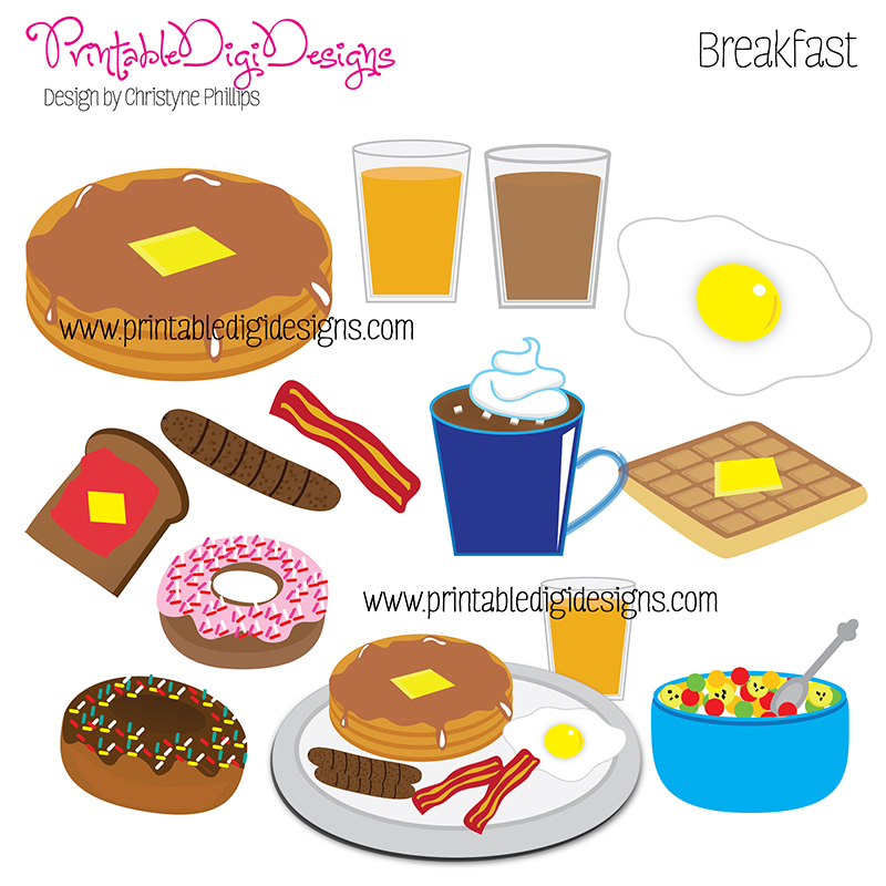 Breakfast Food Clip Art
