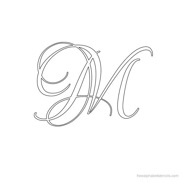 Calligraphy alphabet template images old english