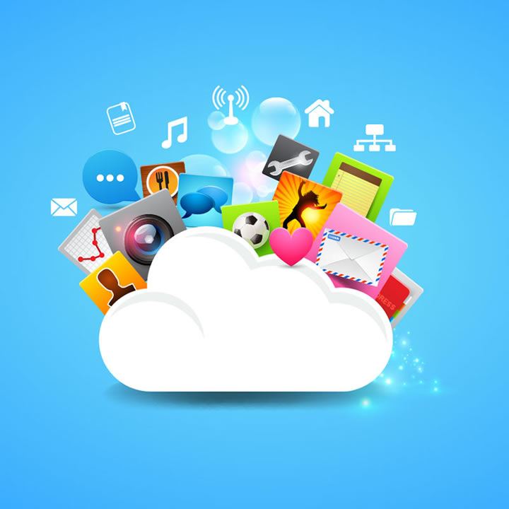 11 Cloud Service Vector Graphics Images
