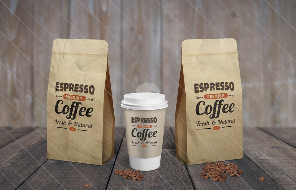 11 Coffee Bag PSD Mockup Images