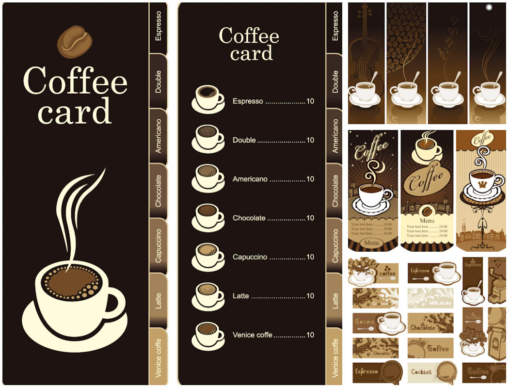 Coffee Menu Design Templates Free