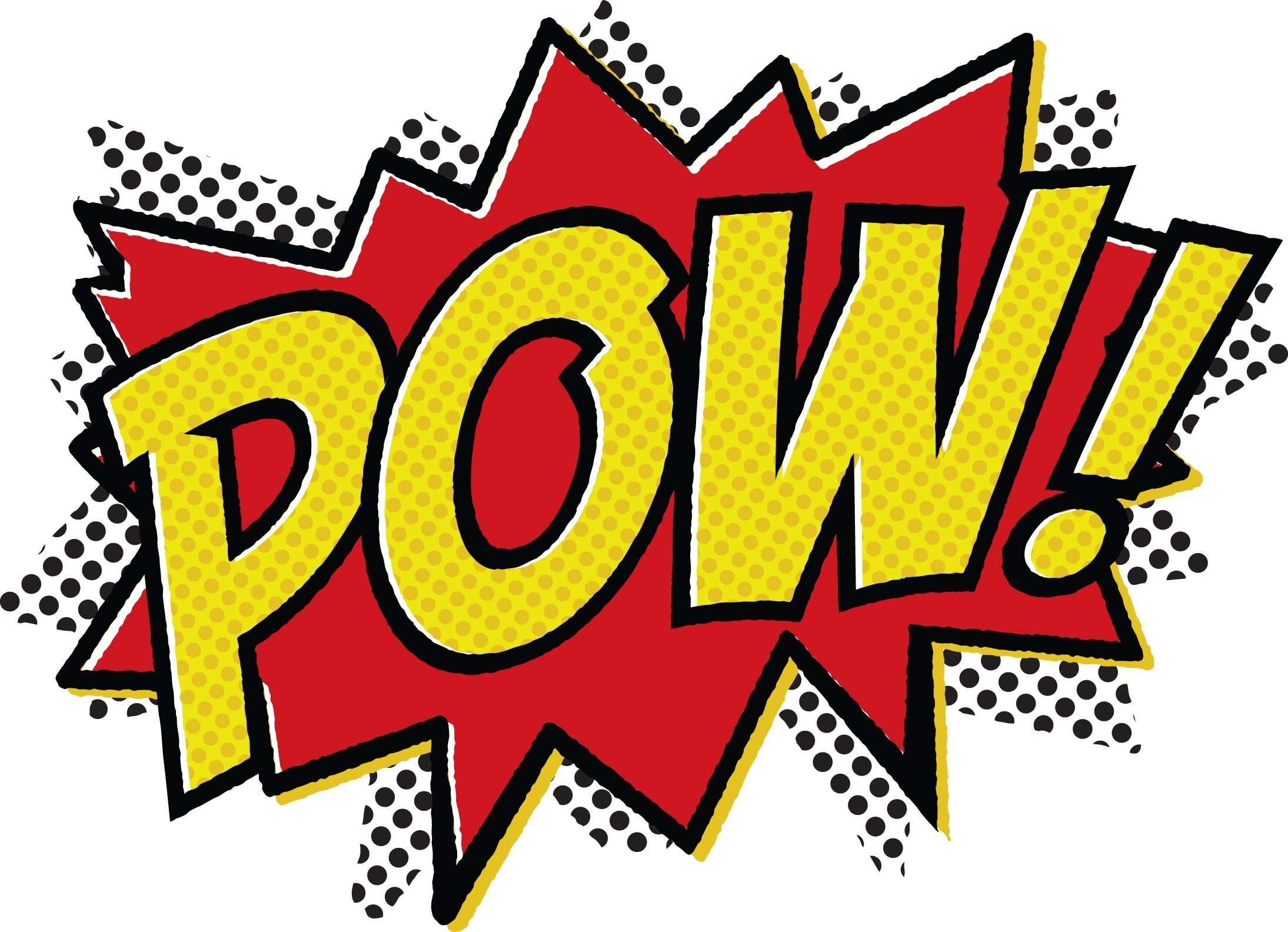 Comic Book Words Pow