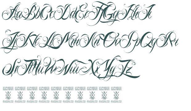 8 gangster cursive fonts images gangster cursive tattoo for Cursive script tattoo fonts