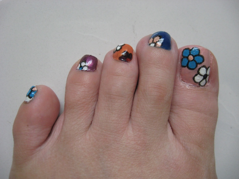 DIY Toe Nail Designs