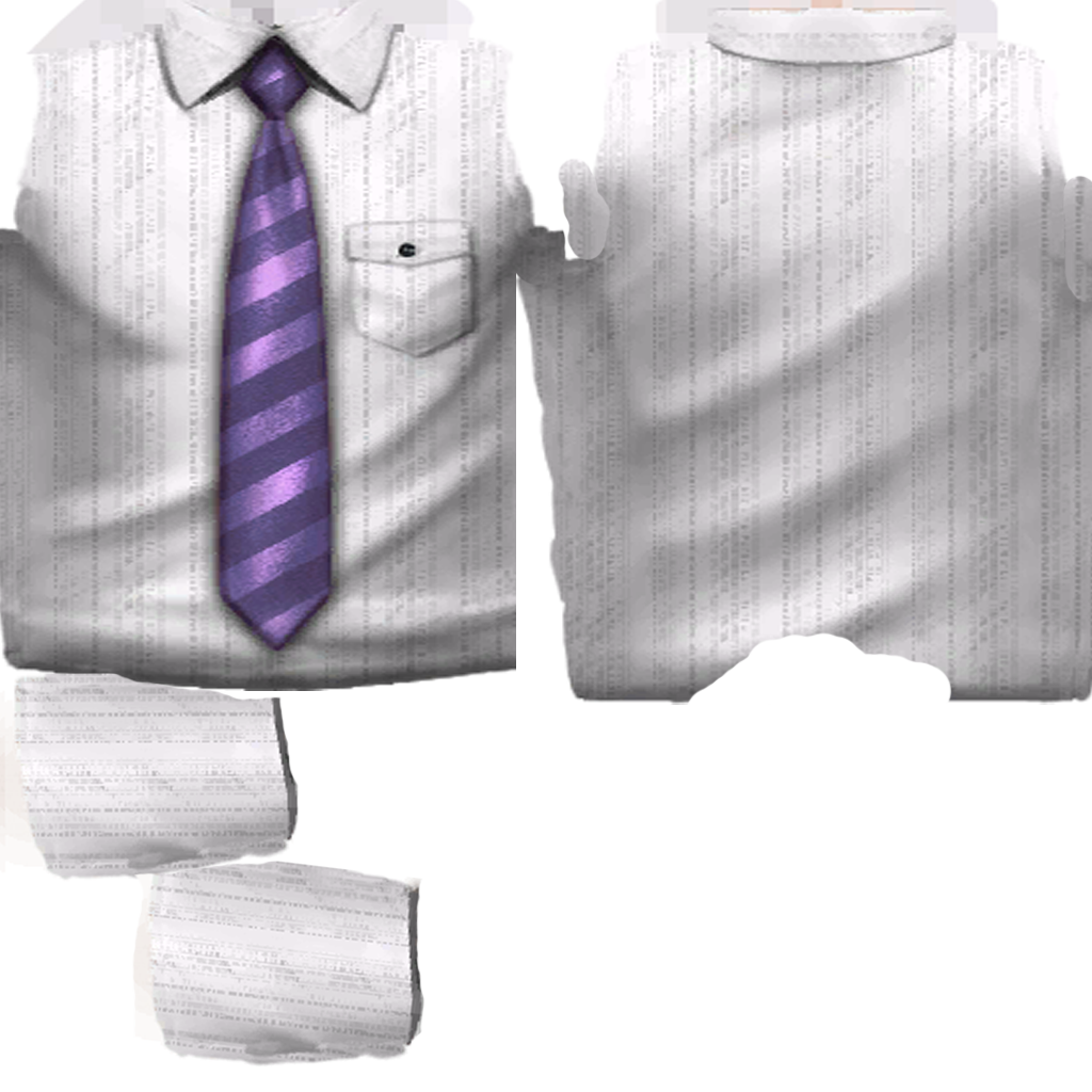 Dress Shirt Template Second Life