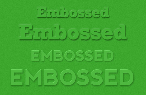 Embossed Text Photoshop Style