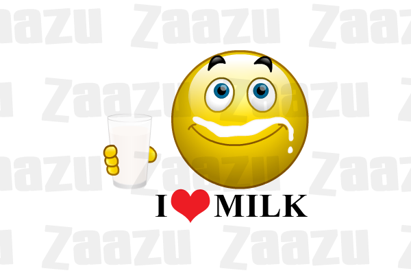 Emoticon I Love Milk