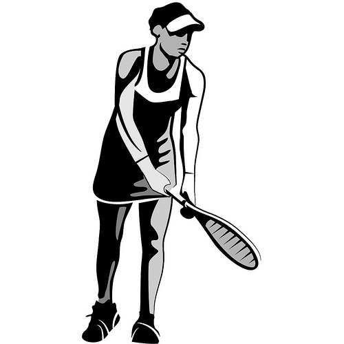 12 Tennis Playing Girl Vector Images