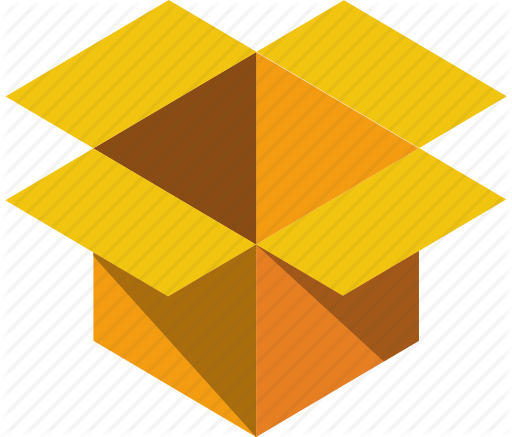 Flat Shipping Box Icon