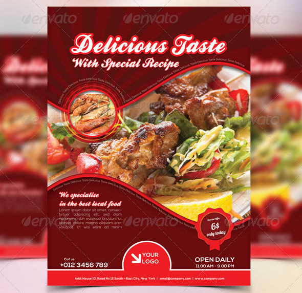 Food Flyer Templates Free