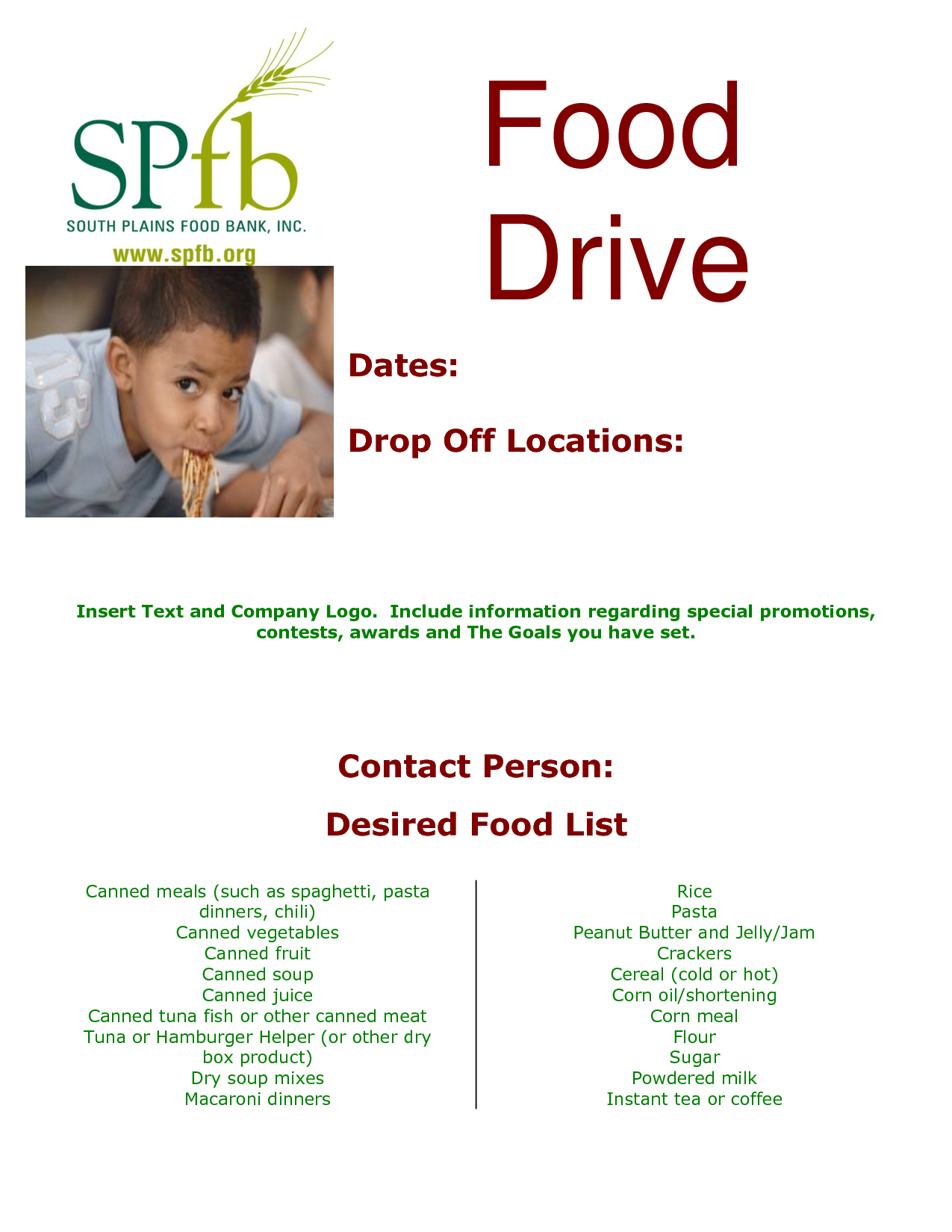 Food Pantry Flyer Templates