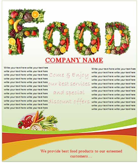 Food Sale Flyer Template