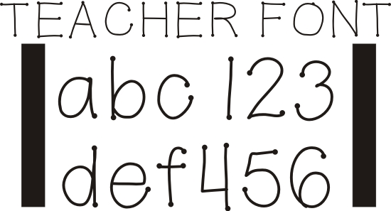 11 ABC Teacher Font Free Download Images