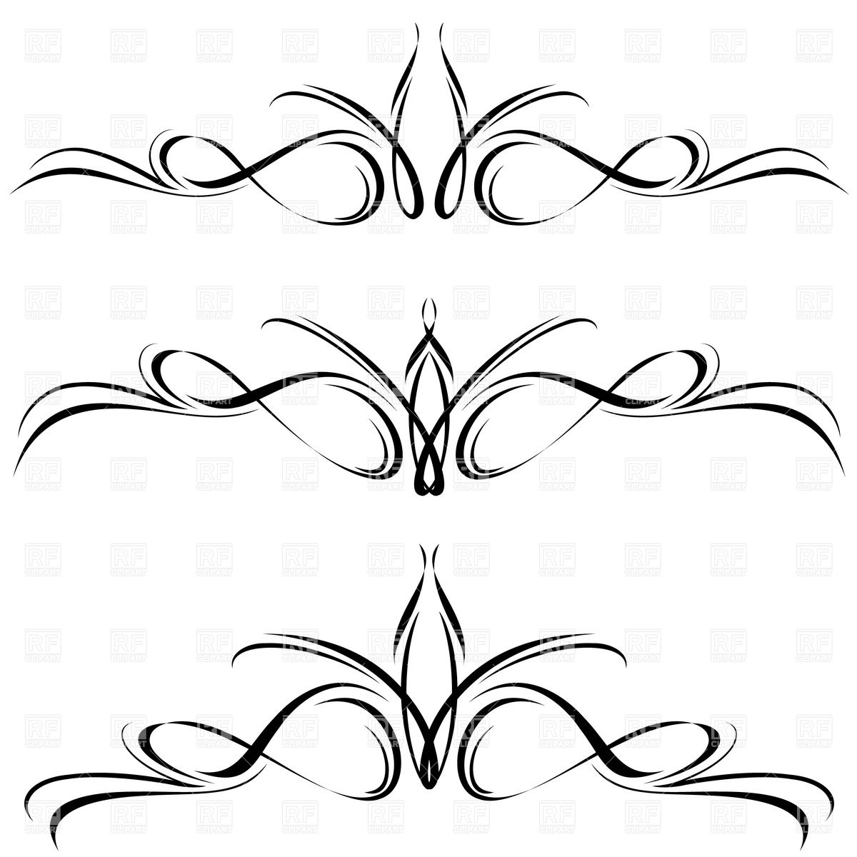 Line Art Designs For Borders : Free ornament vector lines images