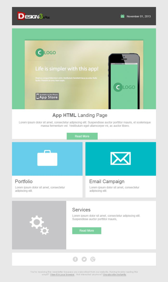 Free Email Template Design