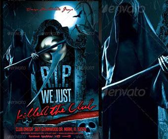 18 PSD Flyer Horror Images