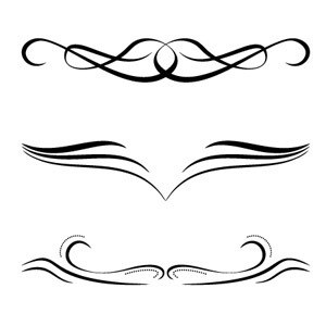 Free Vector Calligraphic Ornaments