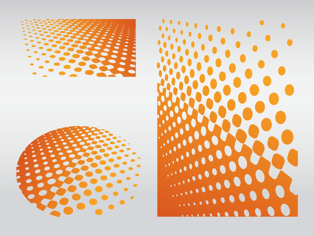 11 Gradient Dot Pattern Vector Images
