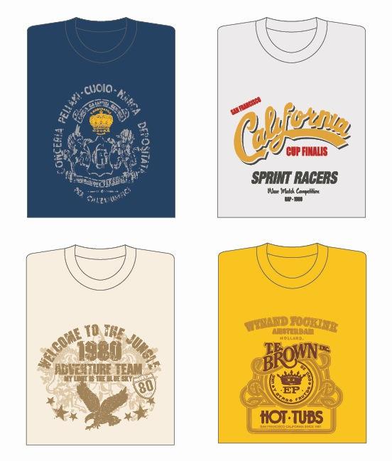 13 Vector T-Shirt Designs Images