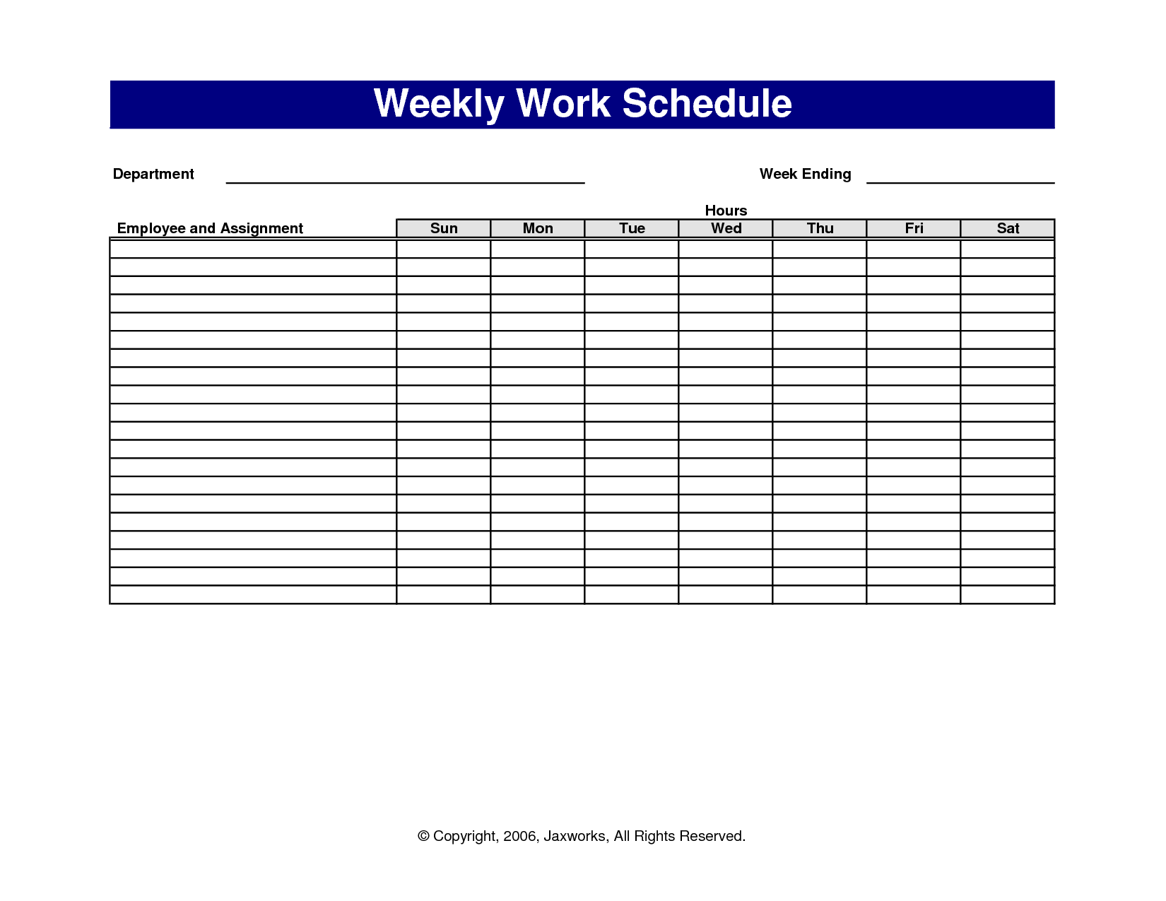 7 weekly employee schedule template authorization letter
