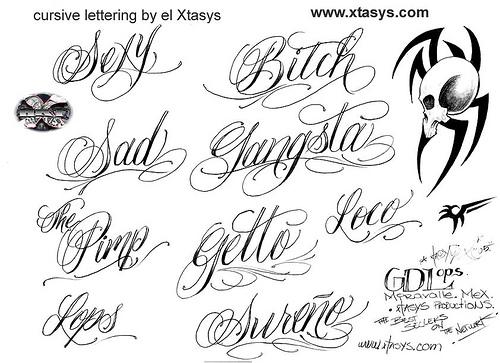 8 Gangster Cursive Fonts Images
