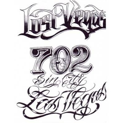 Gangster Tattoo Lettering Font