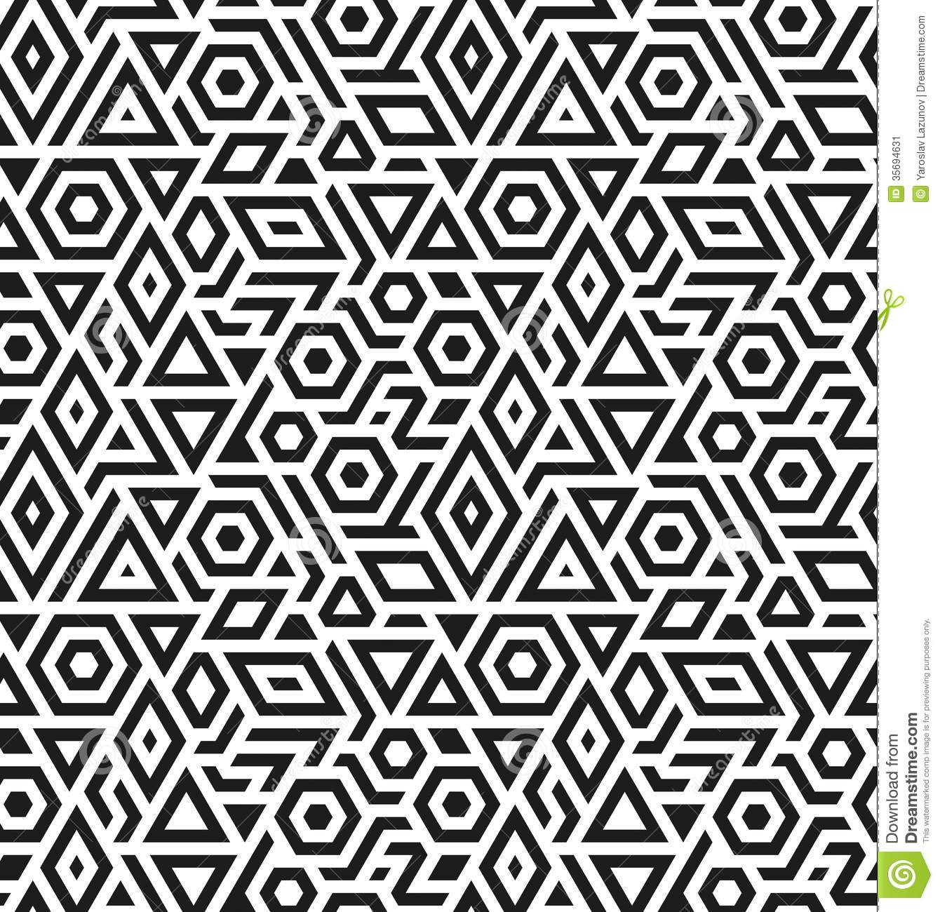 12 Free Vector Geometric Seamless Pattern Images - Geometric