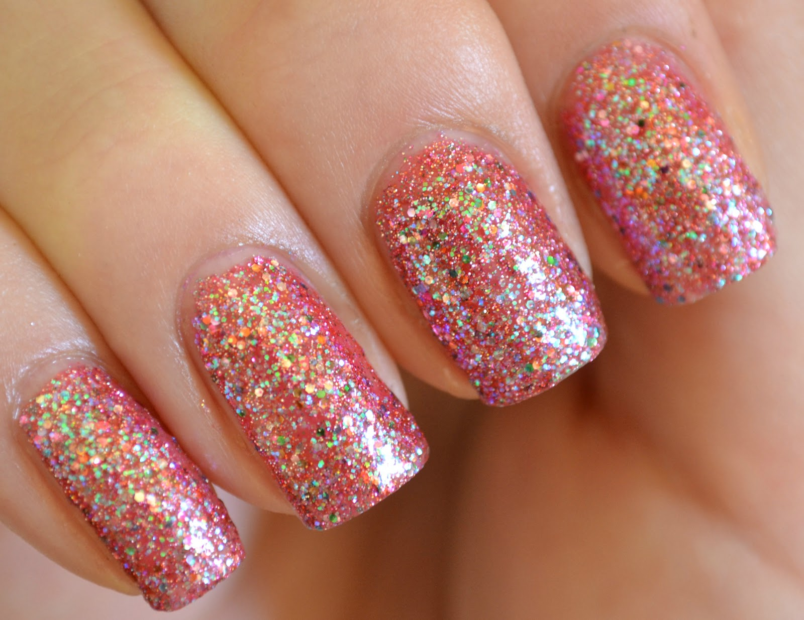 15 Glitter Nail Art Designs Images