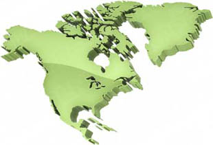 Graphic North America Map