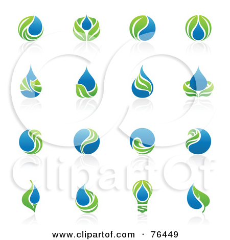 16 Green Water Drop Icon Images