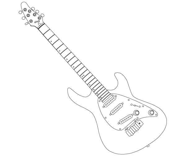 Guitar Outline Vector