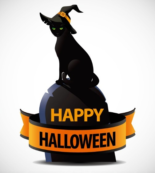 Halloween Black Cat Vector Images Free