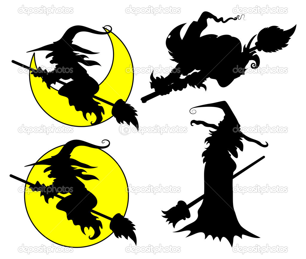 Halloween Witch Silhouette Clip Art