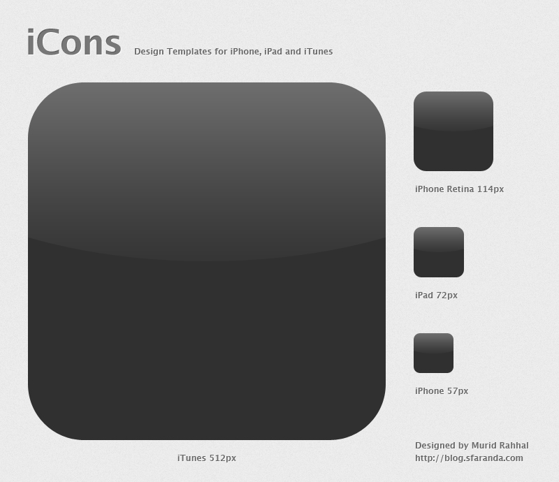 iPhone App Icon Template
