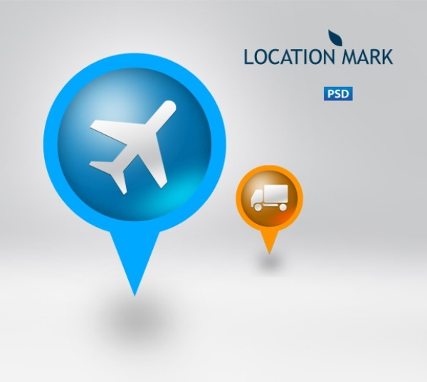 13 Map Icons PSD Images