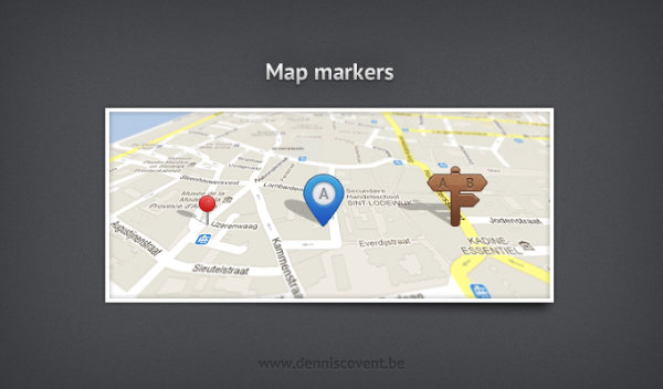 Map Markers PSD