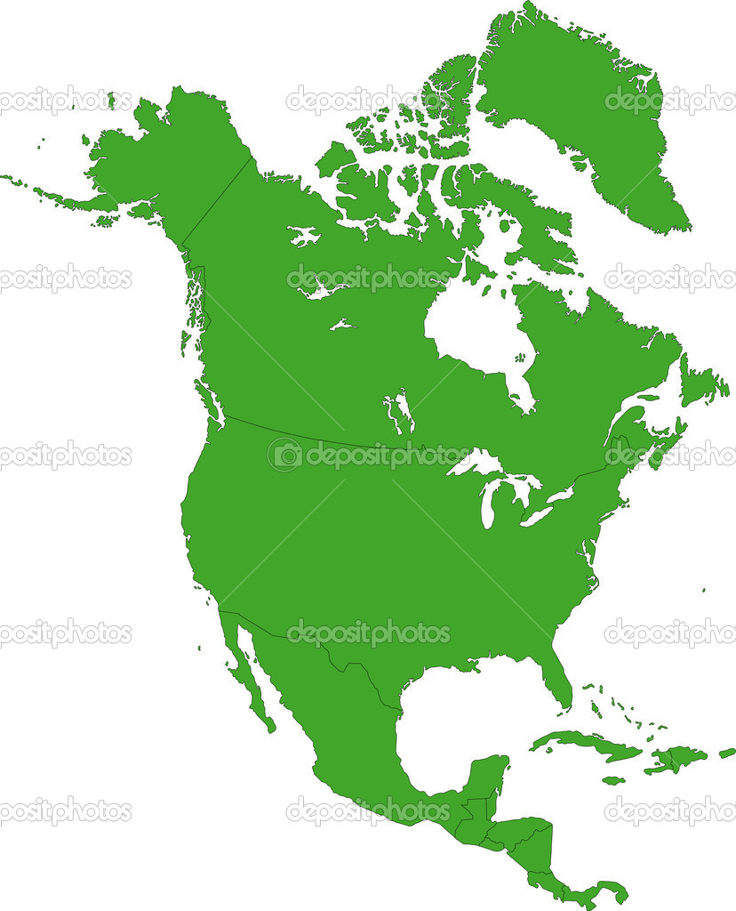 17 North America Map Icon Green Images