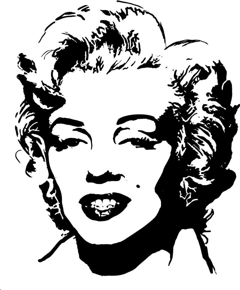 Celebrity face stencils