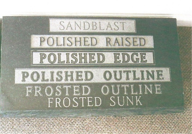 Monument Lettering Styles